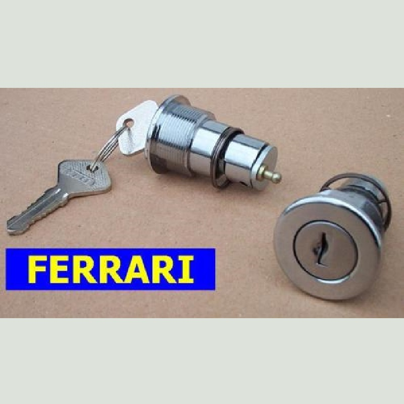 cilindro cilindri cilindretto cilindretti porta porte portiera portiere dx ds destro sx sn sinistro destra sinistra coppia kit set serie 2 ferrari 206 246 308 365 512 bb b door key cylinder keys doors cylinders doppia chiave unica